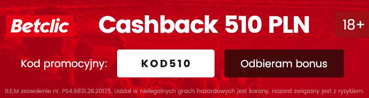 bukmacher betclic bonus cashback